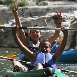 enfants canoe ardèche